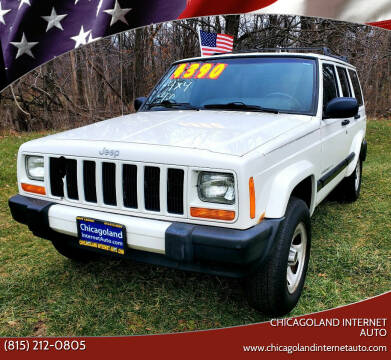 2001 Jeep Cherokee for sale at Chicagoland Internet Auto - 410 N Vine St New Lenox IL, 60451 in New Lenox IL