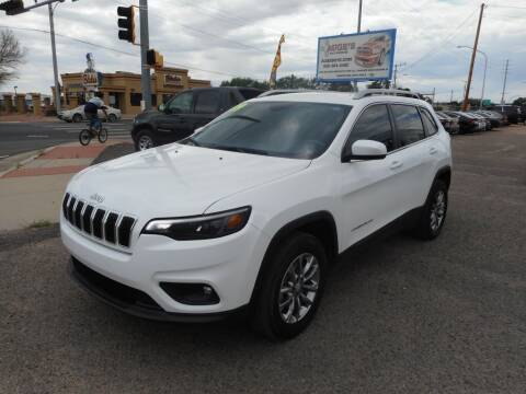 2019 Jeep Cherokee for sale at AUGE'S SALES AND SERVICE in Belen NM