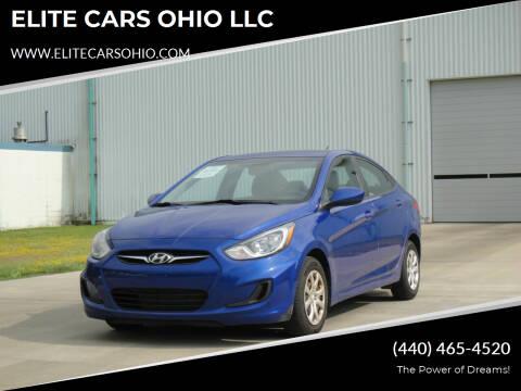 2013 Hyundai Accent for sale at ELITE CARS OHIO LLC in Solon OH