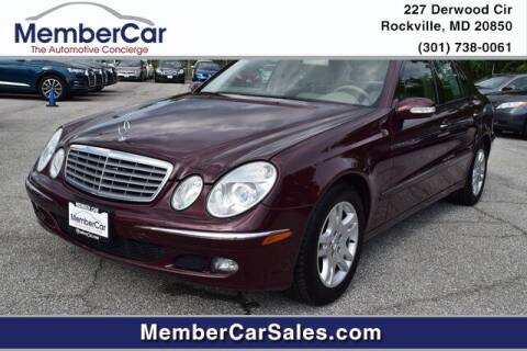2006 Mercedes-Benz E-Class for sale at MemberCar in Rockville MD