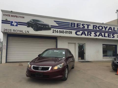 2010 Honda Accord for sale at Best Royal Car Sales in Dallas TX