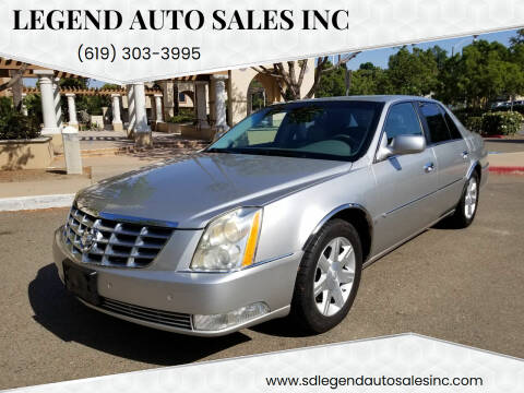2007 Cadillac DTS for sale at Legend Auto Sales Inc in Lemon Grove CA