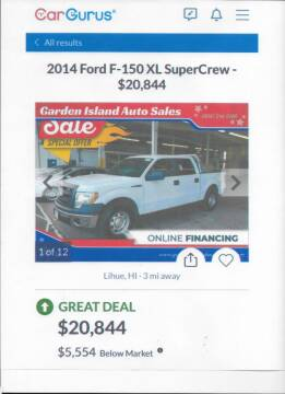 2014 Ford F-150 for sale at Garden Island Auto Sales in Lihue HI