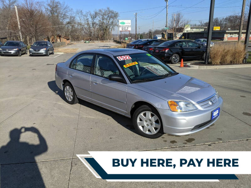 2002 Honda Civic for sale at AmericAuto in Des Moines IA