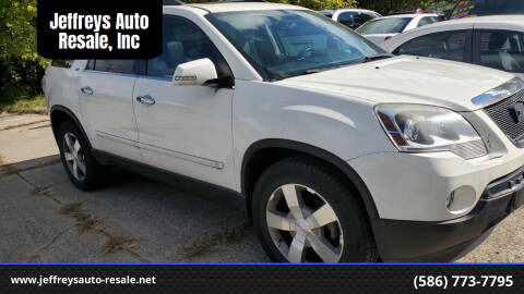 2010 GMC Acadia for sale at Jeffreys Auto Resale, Inc in Clinton Township MI
