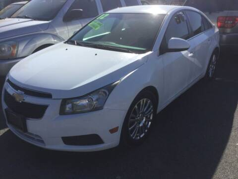2012 Chevrolet Cruze for sale at Small Car Motors in Carson City NV