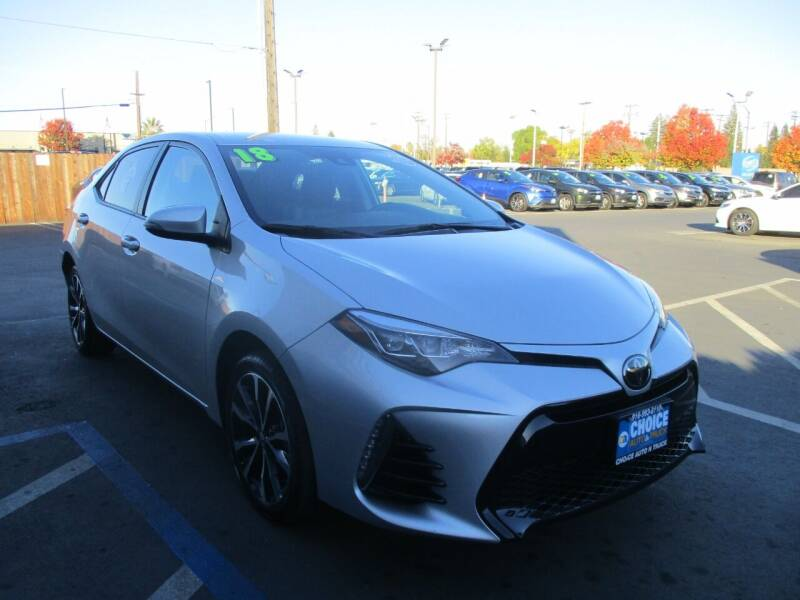 2018 Toyota Corolla for sale at Choice Auto & Truck in Sacramento CA