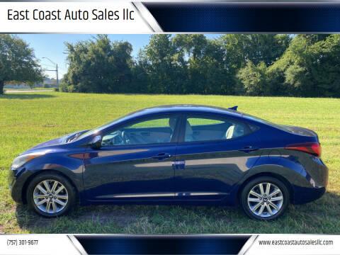 2014 Hyundai Elantra for sale at East Coast Auto Sales llc in Virginia Beach VA