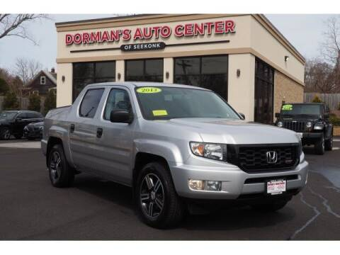 2013 Honda Ridgeline for sale at DORMANS AUTO CENTER OF SEEKONK in Seekonk MA