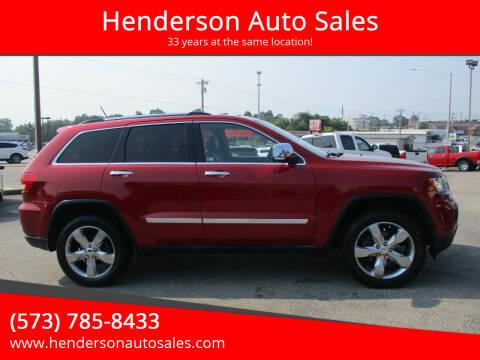 2011 Jeep Grand Cherokee for sale at Henderson Auto Sales in Poplar Bluff MO