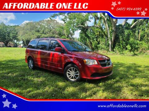 2016 Dodge Grand Caravan for sale at AFFORDABLE ONE LLC in Orlando FL