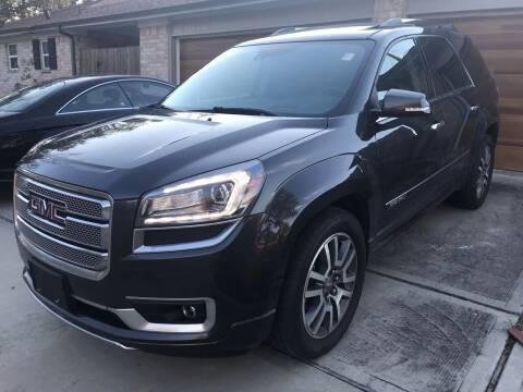 2014 GMC Acadia for sale at Texas Luxury Auto in Houston TX