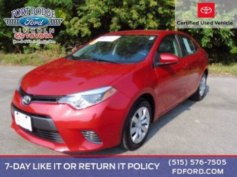 2016 Toyota Corolla for sale at Fort Dodge Ford Lincoln Toyota in Fort Dodge IA