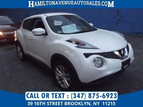 2016 Nissan JUKE for sale at Hamilton Avenue Auto Sales in Brooklyn NY
