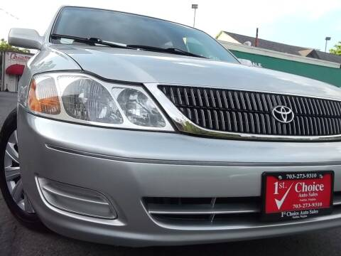 2002 Toyota Avalon for sale at 1st Choice Auto Sales in Fairfax VA