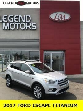 2017 Ford Escape for sale at Legend Motors of Ferndale in Ferndale MI