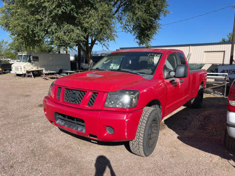 2008 Nissan Titan for sale at PYRAMID MOTORS - Fountain Lot in Fountain CO