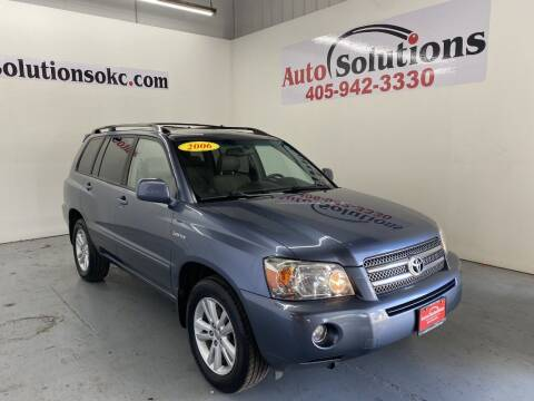 2006 Toyota Highlander Hybrid for sale at Auto Solutions in Warr Acres OK