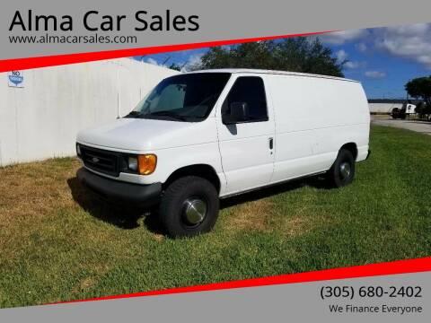 2004 Ford E-Series Cargo for sale at Alma Car Sales in Miami FL