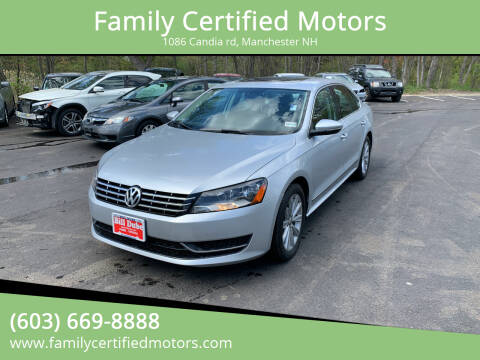 2012 Volkswagen Passat for sale at Family Certified Motors in Manchester NH
