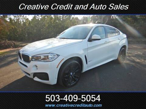 2017 BMW X6 for sale at Creative Credit & Auto Sales in Salem OR
