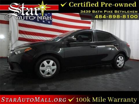 2015 Toyota Corolla for sale at STAR AUTO MALL 512 in Bethlehem PA