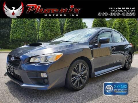 2015 Subaru WRX for sale at Phoenix Motors Inc in Raleigh NC