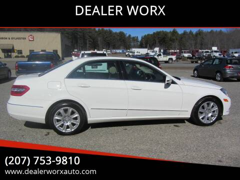 2013 Mercedes-Benz E-Class for sale at DEALER WORX in Auburn ME