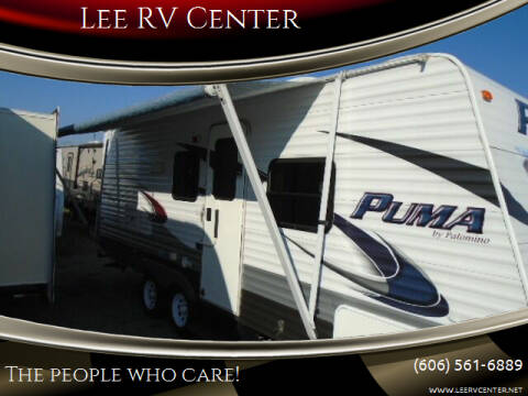 2013 Palomino PUMA 21RBS for sale at Lee RV Center in Monticello KY