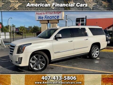 2015 Cadillac Escalade ESV for sale at American Financial Cars in Orlando FL