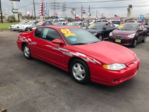 2003 Chevrolet Monte Carlo for sale at Texas 1 Auto Finance in Kemah TX