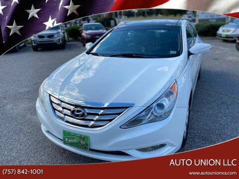 2013 Hyundai Sonata for sale at Auto Union LLC in Virginia Beach VA