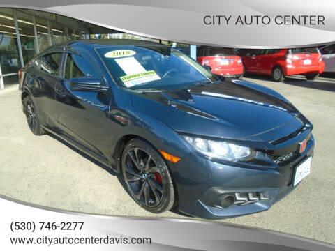 2018 Honda Civic for sale at City Auto Center in Davis CA