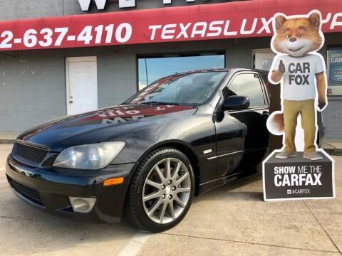 2004 Lexus IS 300 for sale at Texas Luxury Auto in Cedar Hill TX