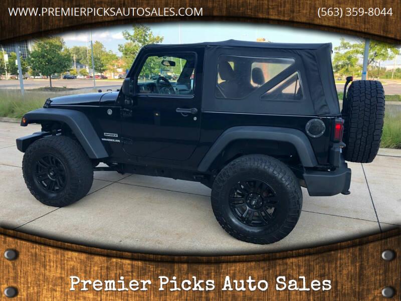 2012 Jeep Wrangler for sale at Premier Picks Auto Sales in Bettendorf IA