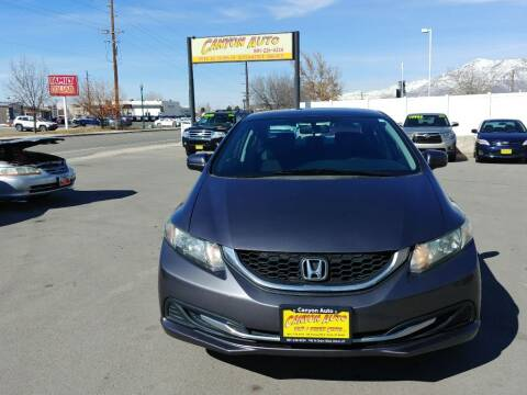 2014 Honda Civic for sale at Canyon Auto Sales in Orem UT