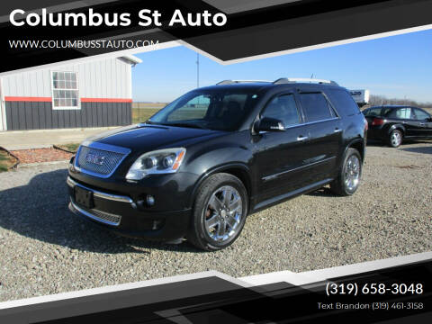 2011 GMC Acadia for sale at Columbus St Auto in Crawfordsville IA