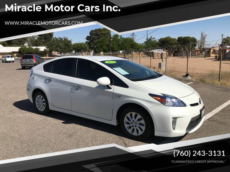 2014 Toyota Prius Plug-in Hybrid for sale at Miracle Motor Cars Inc. in Victorville CA