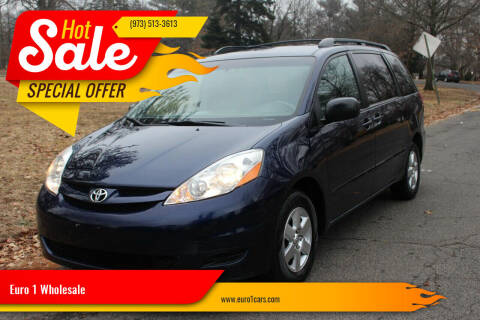2007 Toyota Sienna for sale at Euro 1 Wholesale in Fords NJ