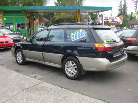 2000 Subaru Outback for sale at UNIVERSITY MOTORSPORTS in Seattle WA