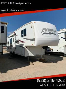 2004 Keystone Everest  for sale at FREE 2 U Consignments in Yuma AZ