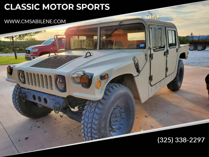 1986 AM General M998 for sale at CLASSIC MOTOR SPORTS in Winters TX