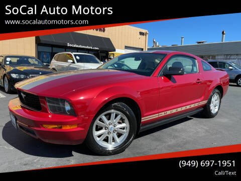 2008 Ford Mustang for sale at SoCal Auto Motors in Costa Mesa CA