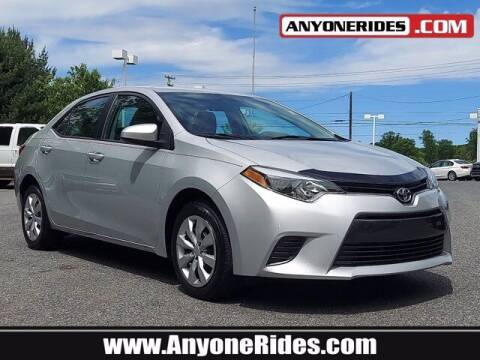 2016 Toyota Corolla for sale at ANYONERIDES.COM in Kingsville MD
