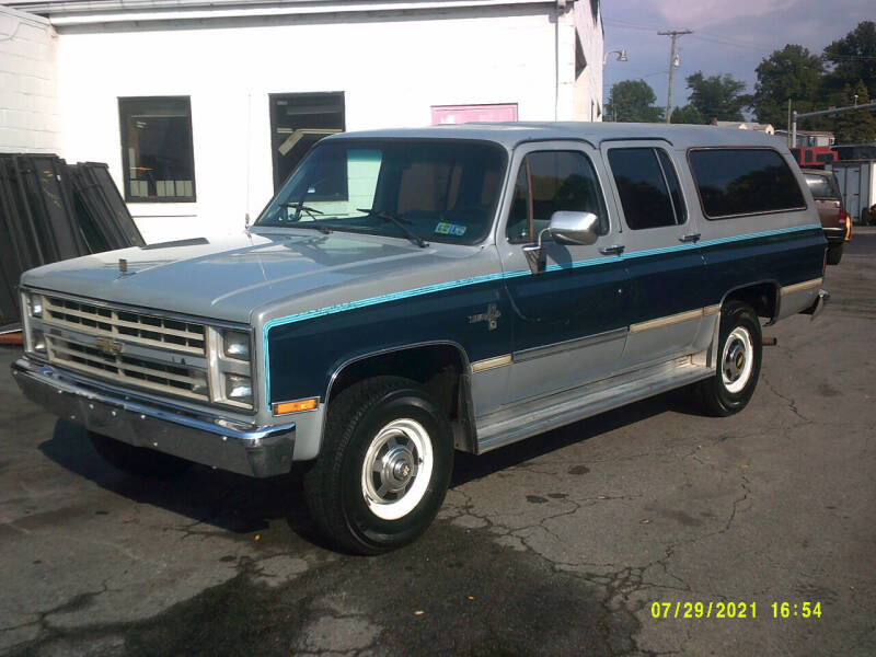 1985 Chevrolet Suburban for sale at M & M Inc. of York in York PA