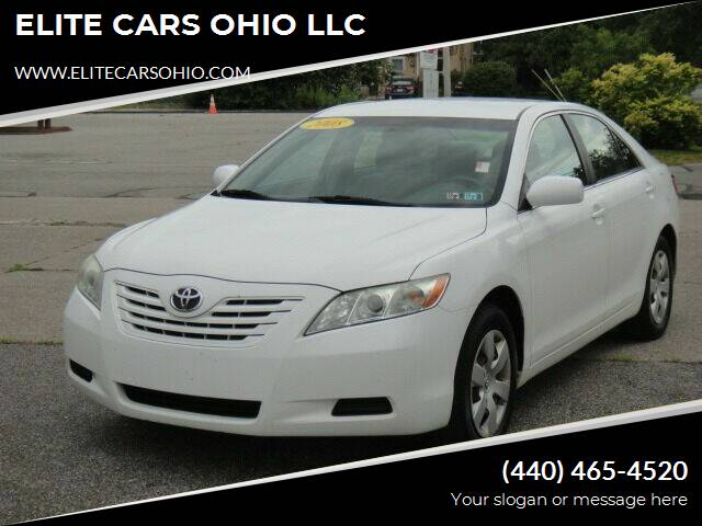 2008 Toyota Camry for sale at ELITE CARS OHIO LLC in Solon OH