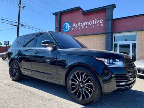2014 Land Rover Range Rover for sale at Automotive Solutions in Louisville KY