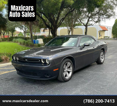 2016 Dodge Challenger for sale at Maxicars Auto Sales in West Park FL