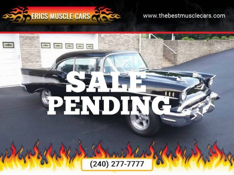 1957 Chevrolet Bel Air for sale at Erics Muscle Cars in Clarksburg MD