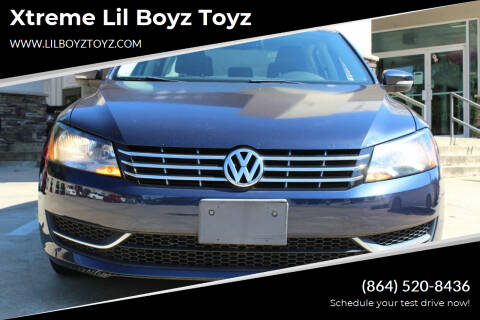 2013 Volkswagen Passat for sale at Xtreme Lil Boyz Toyz in Greenville SC